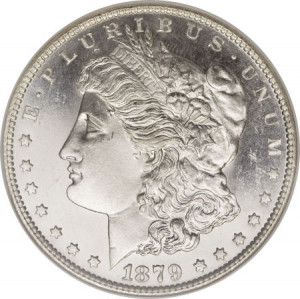 1879-S Morgan Silver Dollar PCGS/NGC MS66