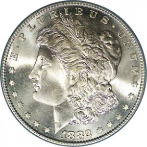 1882-S Morgan Silver Dollar PCGS/NGC MS66